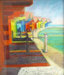 North Bay Beach Huts by Diane Goldthorpe